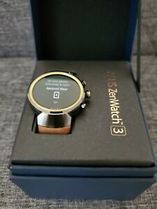 ASUS ZenWatch 3 Smart Watch Fitness Activity Sleep Tracker w/ Brown Leather Band