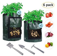 6Pcs PE Potato Planting Bags Grow Pots Vegetable Growing Garden Supplies