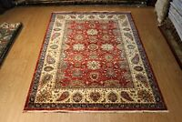 Fine Quality PERSIANN Handmade Hand knotted 7'x10' Red background Floral Rug
