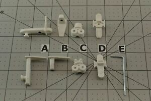 IKEA Glider & Hook Set Miscellaneous Plastic Piece Curtain Hardware White Vidga