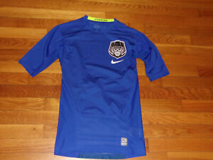NIKE PRO COMBAT DRI-FIT 1/2 SLEEVE COMPRESSION JERSEY MENS SMALL EXCELLENT