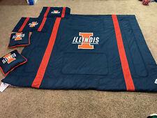 NEW Sports Coverage Locker Room XXL University of Illinois Queen Comforter Set
