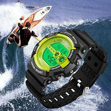 Fashion Men's Watch Sports Stainless Steel Quartz Analog Wrist Watches green UP