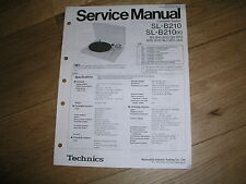 More details for technics sl-b210 service manual original and unused, just stored.