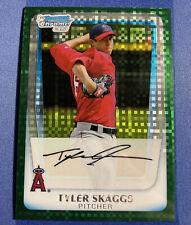 2011 Bowman Chrome Tyler Skaggs 1st Bowman Green #BCP194 Los Angeles Angels!🔥