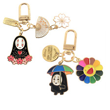 Set of 2 Spirited Away No-Face Keychains Airpod Accessories Backpack Clips