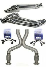 BBK 2011-2014 FORD MUSTANG GT LONGTUBE HEADERS AND HIGH FLOW CATTED CATS X-PIPE