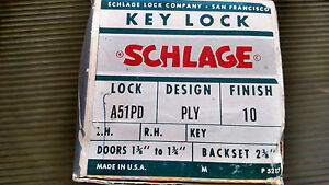 Schlage A Series Plymouth Entry Knob 612 finish brand new