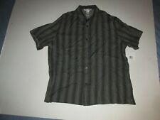 Concepts By Claiborne Short Sleeve Button Up Shirt Sz XXL 2XL Liz Formal