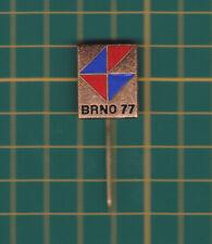 exhibition 1977 Brno Czech Republic - stick pin badge