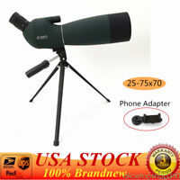 Zoom 25-75X70 Angled Spotting Scope Astronomical Telescope Waterproof Anti-Fog
