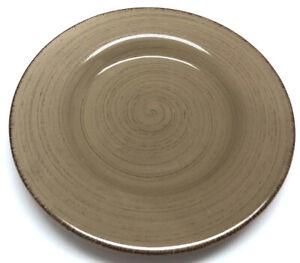 "Williams Sonoma Marketplace Brown Swirl Dinner Plate 11"""