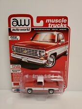 Auto World Muscle Trucks 1975 Chevy Silverado C10 Fleetside Truck Red