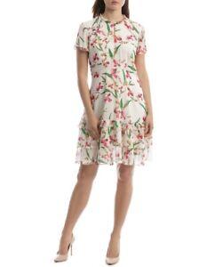 Jayson Brunsdon Black Label Print Ruffle Dress- Size 8 (Brand new with tags)