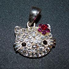 Katze Hello Kitty Kettenanhänger mit Straßsteinchen AVON versilbert? Schmuck