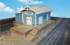 N Scale Building -Trackside Freight Depot (Cover Stock PRE-CUT PAPER Kit) FDN1