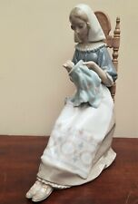 Lladro Figurine #4865 Insular Embroideress Lady Sat Sewing VGC