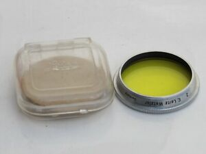 """Leica summitar yellow 2  filter with case,  US SELLER """"LQQK"""""""