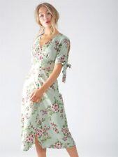 Mint Ariana Floral Tie Cold Shoulder Maxi Dress (RRP £44.99)