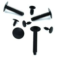 BLACK PLASTIC FIR TREE PANEL CLIPS RBF STYLE - ALL SIZES & QUANTITIES AVAILABLE