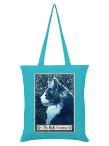 Deadly Tarot Tote Bag Felis The High Priestess Azure Blue