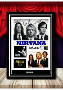 (185)  kurt cobain nirvana signed photograph unframed/framed  (reprint) @@@@@@@