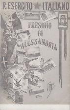 8593) PRESIDIO DI ALESSANDRIA 3 VEDUTINE E 12 IMMAGINI DI CARTOLINE MILITARI.