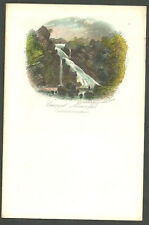 Unused Illustrated Letterhead Notepaper Caunant Mawr Fall Newman Coloured