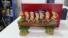 Disney Traditions Biancaneve Tronco sette nani Enesco Jim Shore 4005434