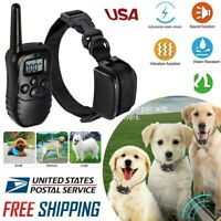 Petrainer Rechargeable Electric Dog Training Collar Shock Collar W/ LCD Remote #