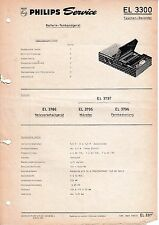 Service Manual Instructions for Philips EL 3300