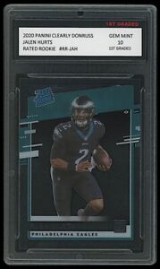 JALEN HURTS 2020 PANINI CLEARLY DONRUSS 1ST GRADED 10 ROOKIE CARD RC EAGLES