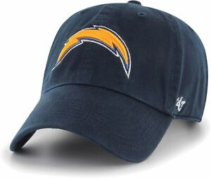 LOS ANGELES CHARGERS NFL NAVY LEGACY DAD STRAPBACK CAP HAT CLEAN UP NEW! '47