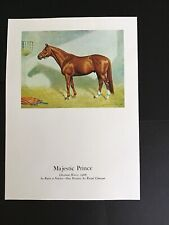 MAJESTIC PRINCE picture from oil painting  Horse Racing 1969 KENTUCKY DERBY