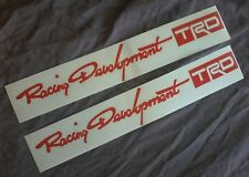 toyota trd racing development sportivo stickers REAR DOORS X 2 RED