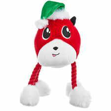 """Time for Joy FESTIVE FOX ROPE LEGS Dog Toy Squeakers Christmas Holiday Plush 14"""""""