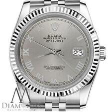 Classic Ladies Rolex 26mm Datejust Slate Gun metal Grey Roman Numeral Dial Watch
