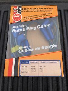 Subaru NGK Genuine Spark Plug Wire Set 1300 1400 1600 GSR Coupe Brat Wagon Etc