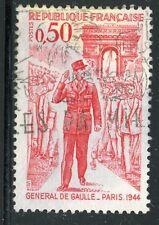 STAMP / TIMBRE FRANCE OBLITERE N° 1697 GENERAL DE GAULLE