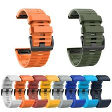 26mm Sports Watch Wrist Strap Silicone Band for Garmin Fenix 6X 5X 3 HR D2 Bravo