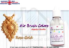 Metallic Edible Colours | Air Brush Cake Decorating| 20 ML | Rose Gold