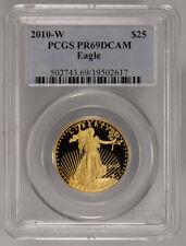 2010-W $25 HALF-OUNCE AMERICAN GOLD EAGLE  * PCGS PROOF 69 DCAM * LOT#E072