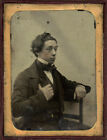 FRENCH+OR+ENGLISH+FRANCE+ENGLAND+AMBROTYPE+GENTLEMAN+SEMI+PROFILE+TOUSLED+HAIR