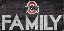 """Ohio State Buckeyes FAMILY Football Wood Sign - NEW 12"""" x 6""""  Decoration Gift"""
