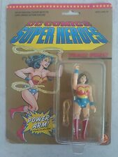NEW 1989 DC COMICS SUPER HEROES WONDER WOMAN ACTION FIGURE ON CARD TOY BIZ! a19