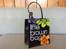 Vintage BLOOMINGDALES Little Brown Bag HAWAII Vinyl Tote Shopping BAG Reusable *