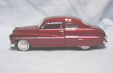 Diecast Model Car 1949 Red Mercury Coupe Motor Max Collectible 1:24 scale