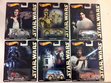 Hot Wheels 2016 Star Wars compete set! FREE shipping! Real Riders metal base