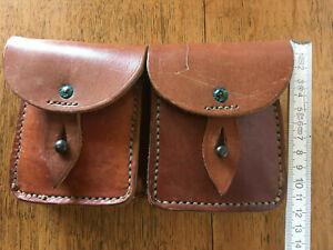 Vintage Leder Gürteltasche, Patronentasche – ähnlich Schweizer Armee