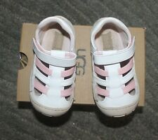UGG TODDLER Girls SANTORE SANDALS Shoes (WHITE/PINK) - Size 8 - NIB